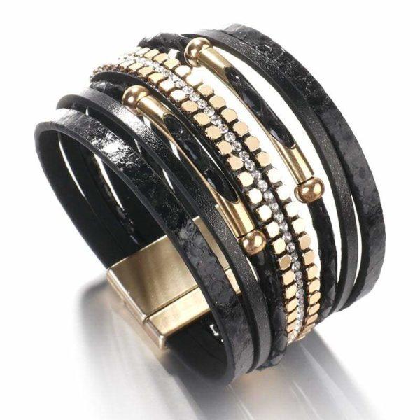 black snakeskin bracelet