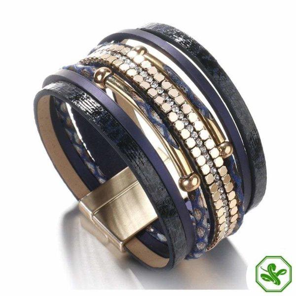 blue snakeskin bracelet