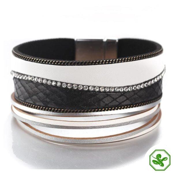White leather snake bracelet