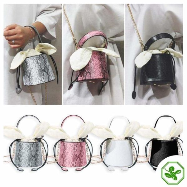 Snakeskin Bucket Bag 22