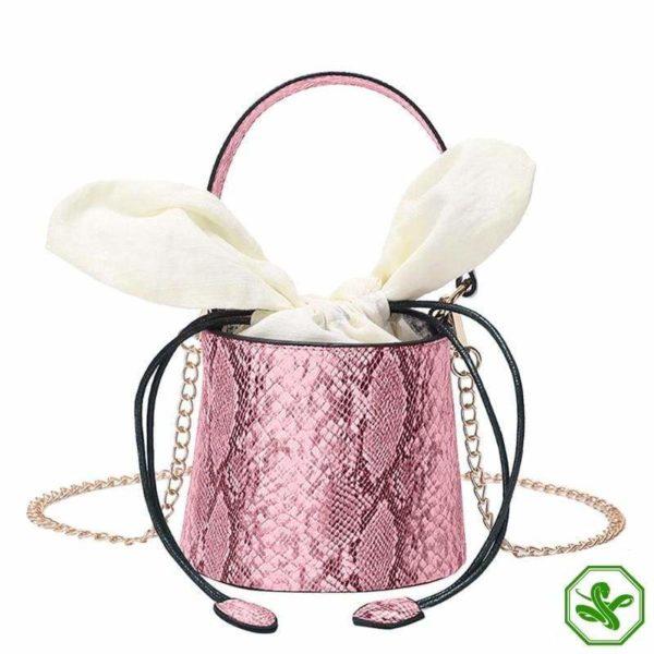 Snakeskin Bucket Bag 12