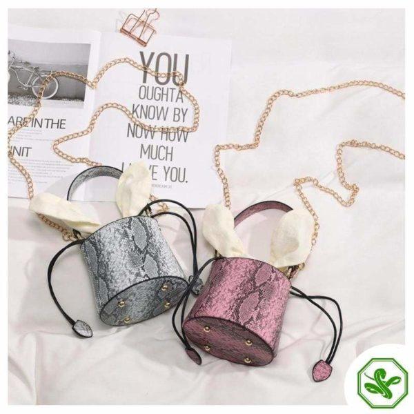 Snakeskin Bucket Bag 14