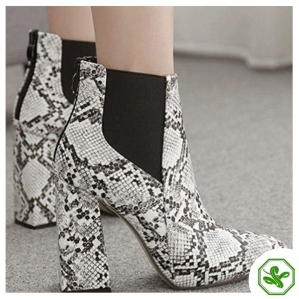 snakeskin chelsea boots women