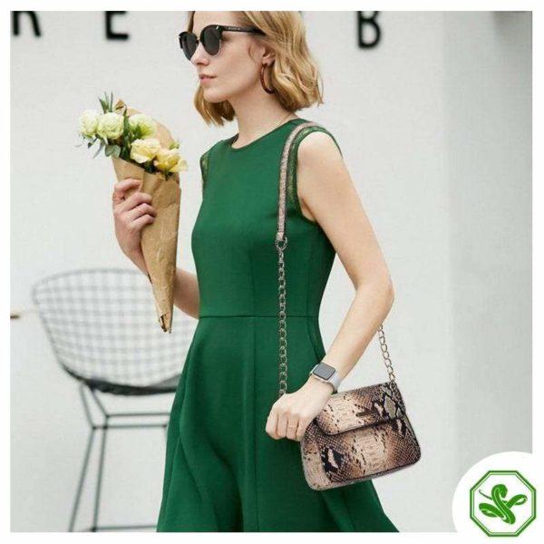 Women's Snakeskin Crossbody Bag
