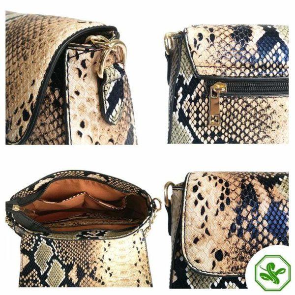 Snakeskin Crossbody Bag for Woman
