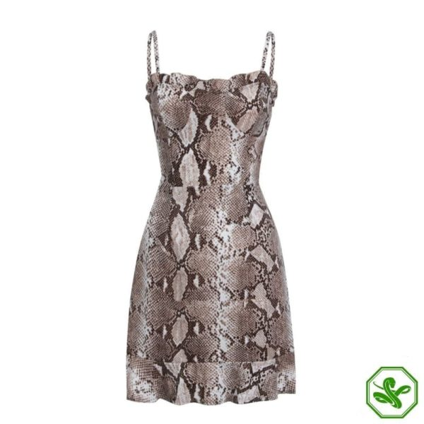 Snakeskin Dress Outfit 2