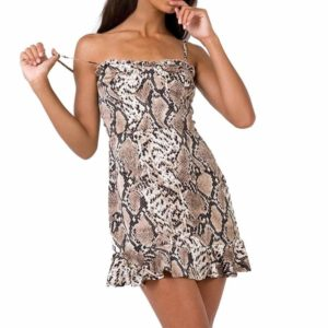 Snakeskin Dress Outfit 1