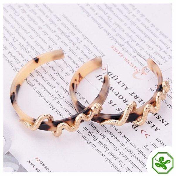 brown snakeskin earrings