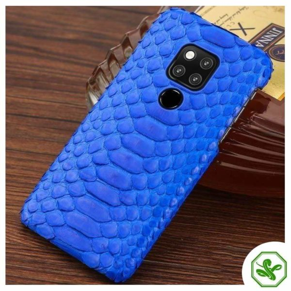 Snakeskin Huawei Case Blue