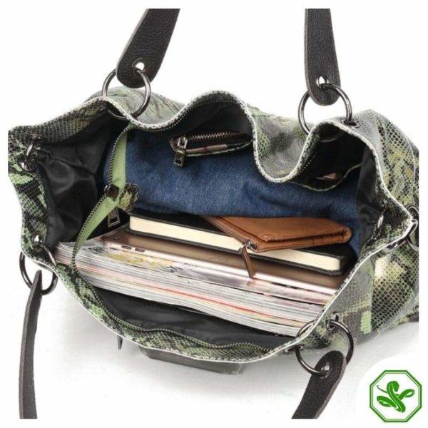 Snakeskin Leather Bag for Women