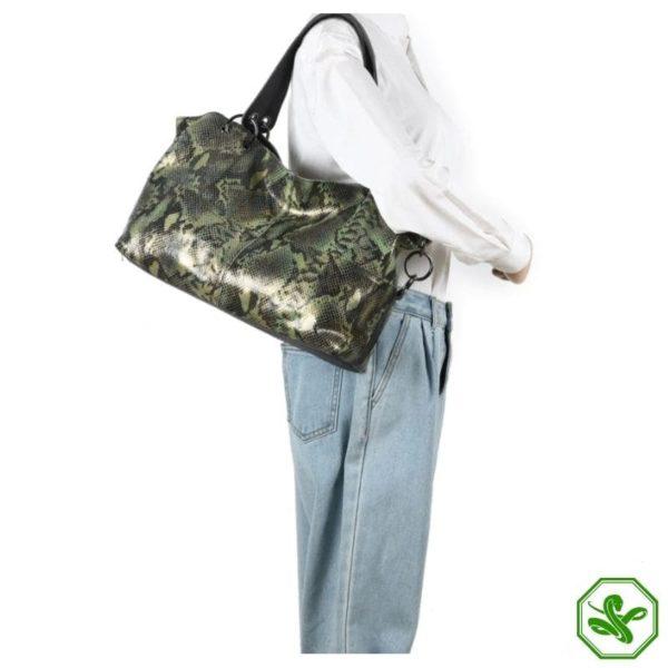 Women's Snakeskin Leather Bag