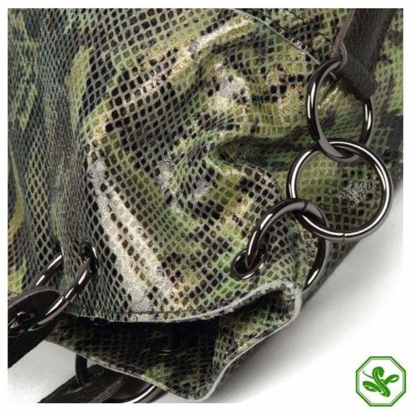 Snakeskin Leather Bag details