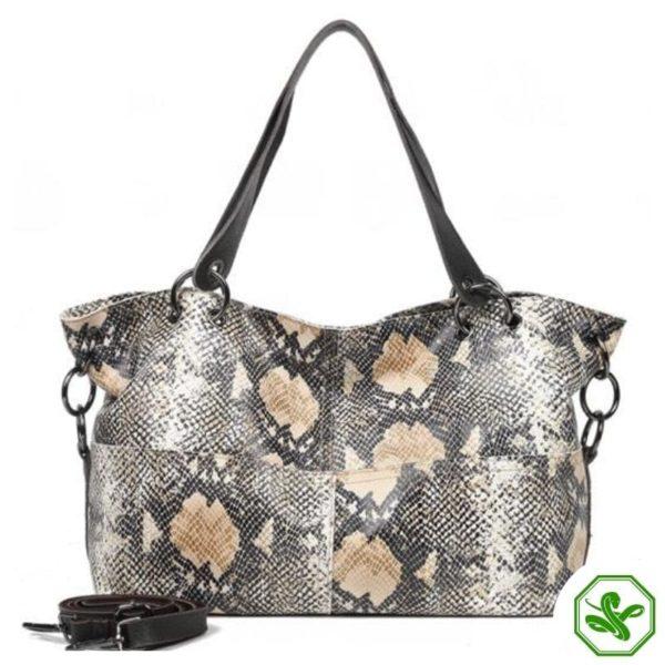 Python Snakeskin Leather Bag