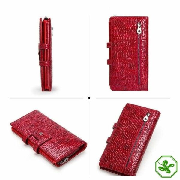 Snakeskin leather Wallet Women