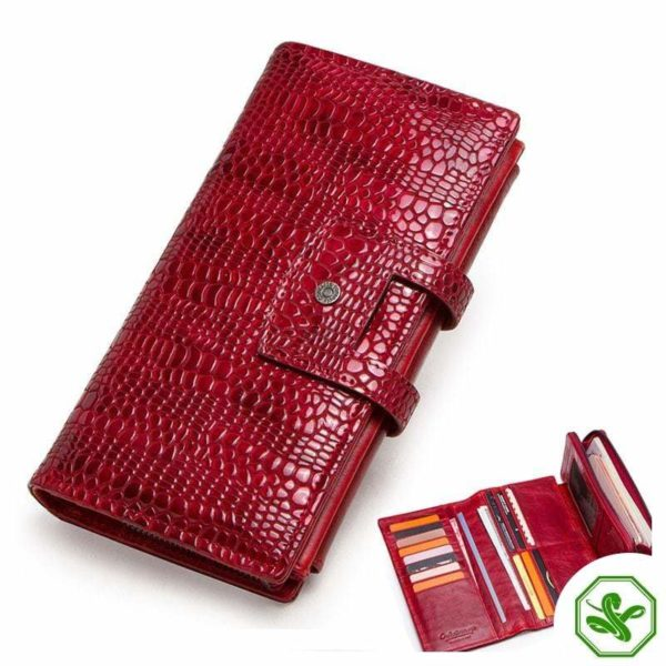 Snakeskin Leather Wallet for Woman