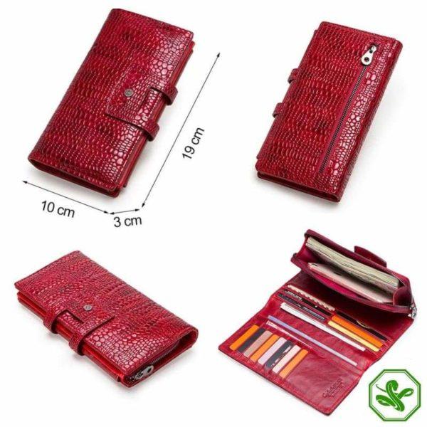Women's Snakeskin leather Wallet