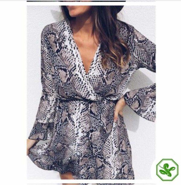 Snakeskin Pattern Dress 4