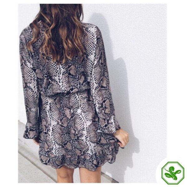 Snakeskin Pattern Dress 2