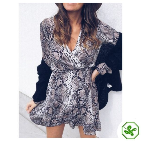 Snakeskin Pattern Dress 3