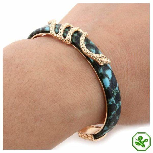 elegant blue snake bracelet