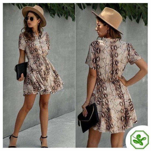 Women's Snakeskin Print Dress