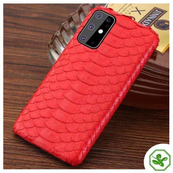 Snakeskin Samsung Case Red
