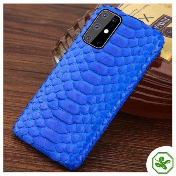 Snakeskin Samsung Case Blue