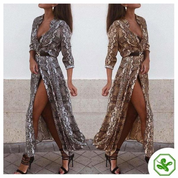 Snakeskin Shirt Dress 5
