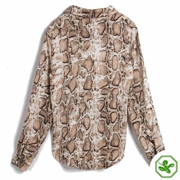 woman snakeskin shirt