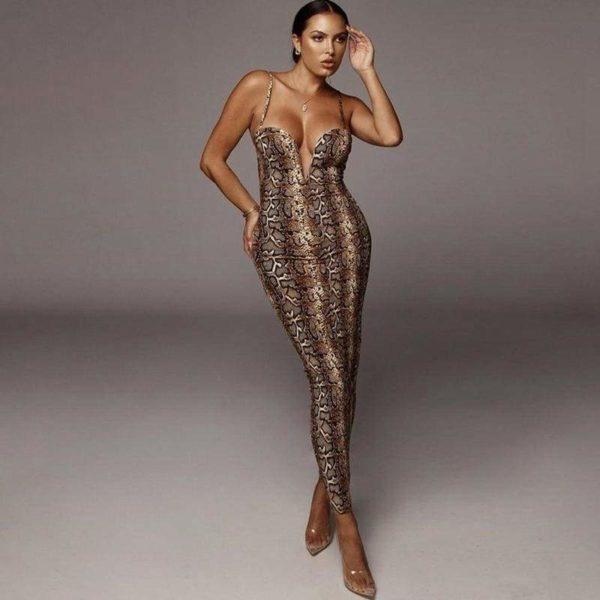 Snakeskin Tight Dress 1