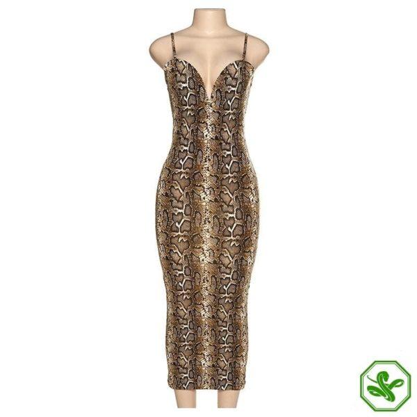 Snakeskin Tight Dress 4