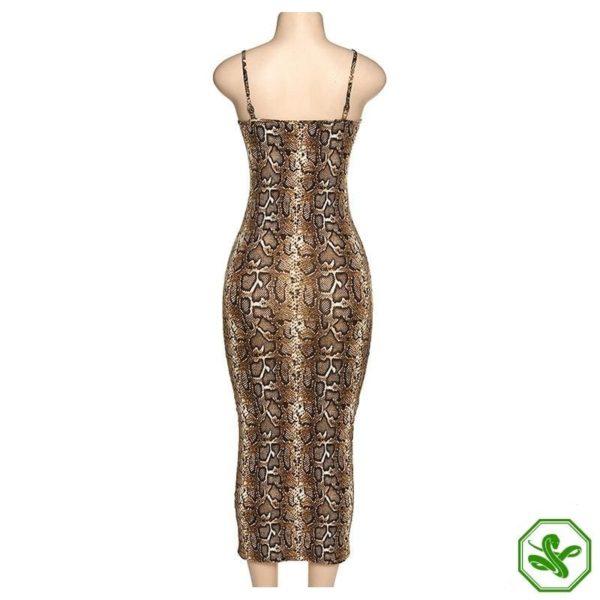 Snakeskin Tight Dress 5