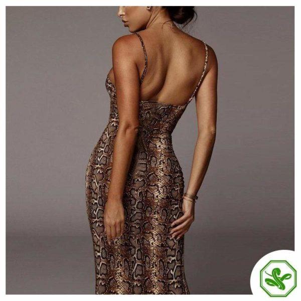 Snakeskin Tight Dress 3
