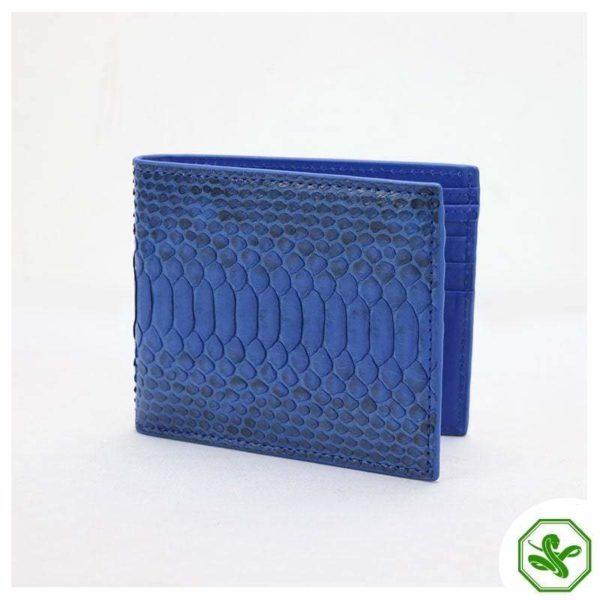 Blue Snakeskin Wallet Mens