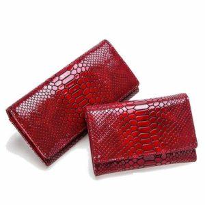 snakeskin wallet women's