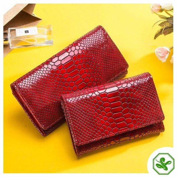 women's snakeskin wallet