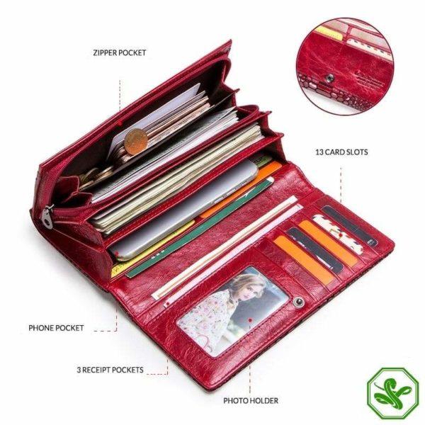 snakeskin wallet for women