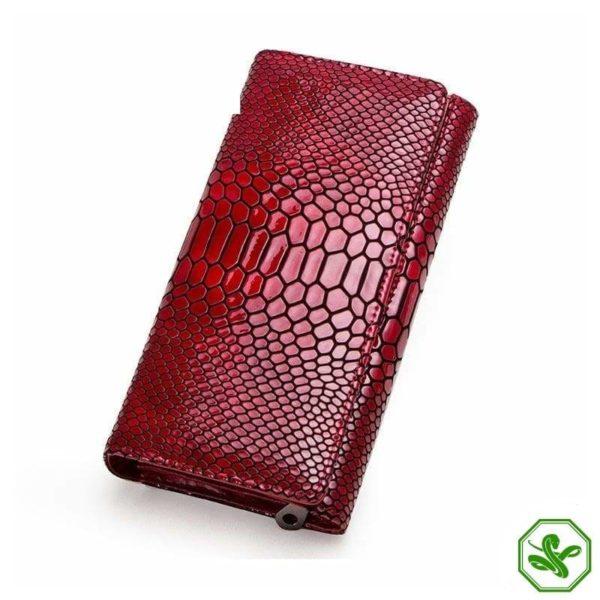 large women's snakeskin wallet