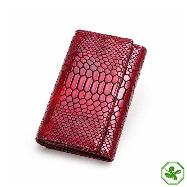 small women's snakeskin wallet