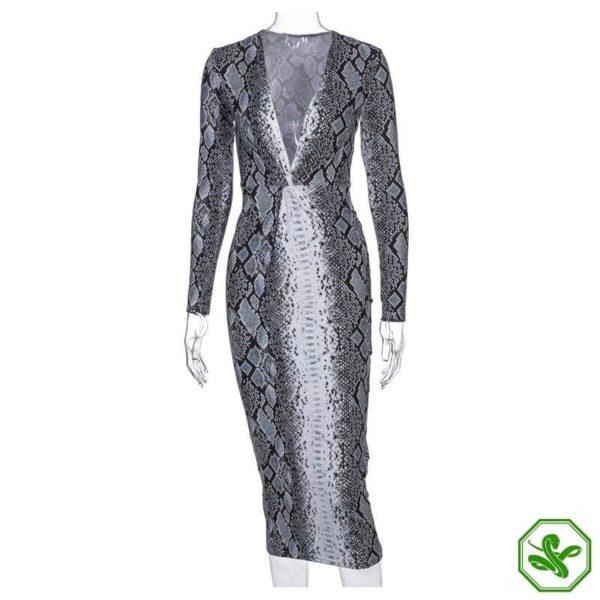 Snakeskin Wrap Dress 8
