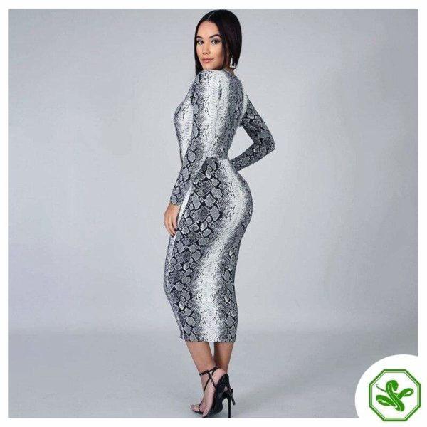 Snakeskin Wrap Dress 5