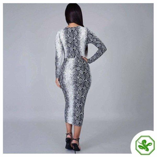 Snakeskin Wrap Dress 7