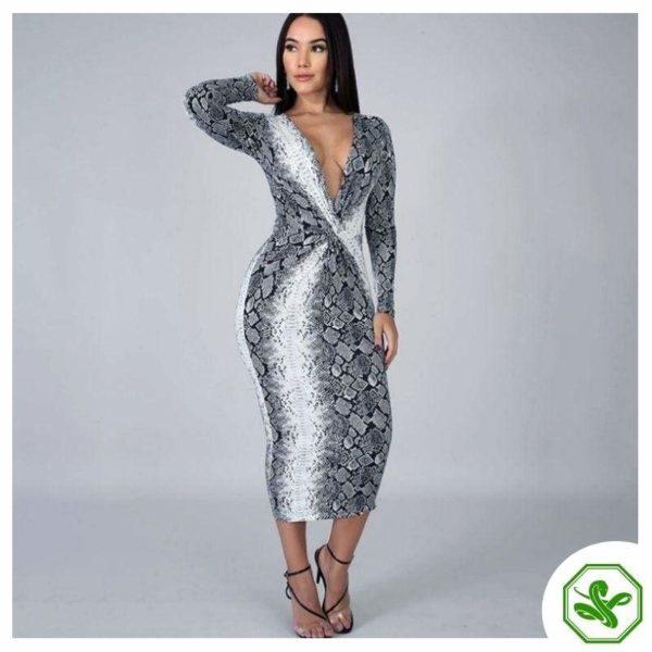 Snakeskin Wrap Dress 4