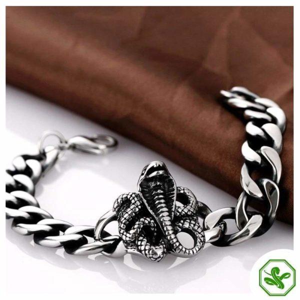 cobra snake bracelet for man