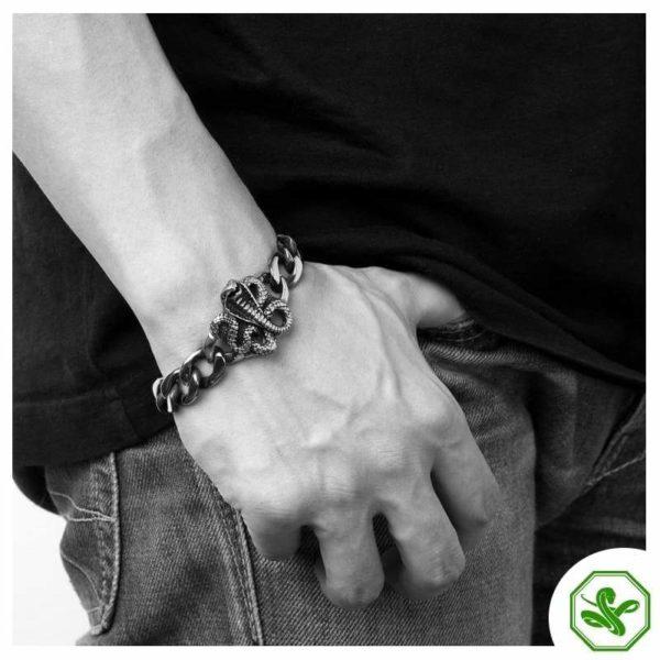 snake bracelet with cobra for men