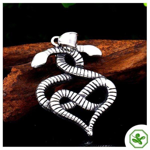 steel snake pendant