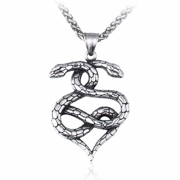 stainless steel snake necklace