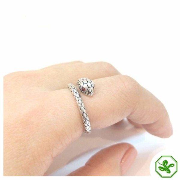 sterling-silver-adjustable-snake-ring 7