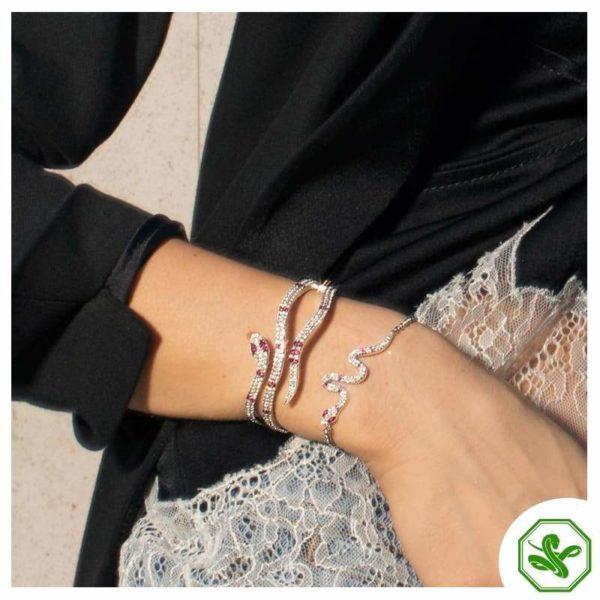 Sterling Silver Snake Bracelet 4