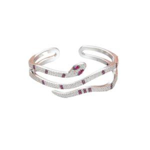 Sterling Silver Snake Bracelet 1